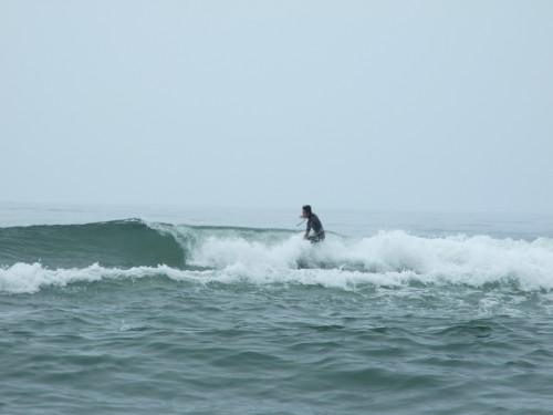 新居でサーフィン